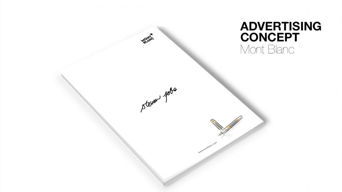 Konzept Advertising Concept Mont Blanc Virginia Wilhelmer