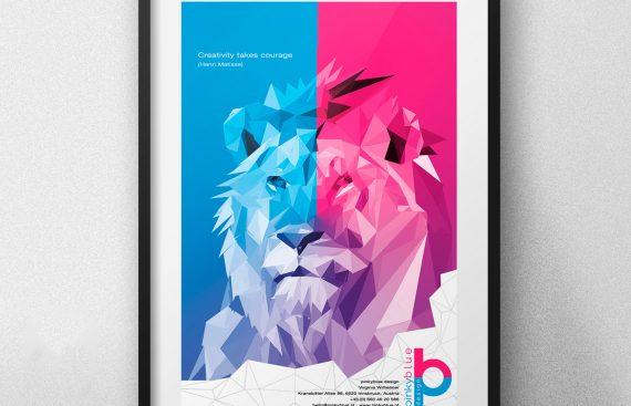 pinkyblue Poster Design Virginia Wilhelmer